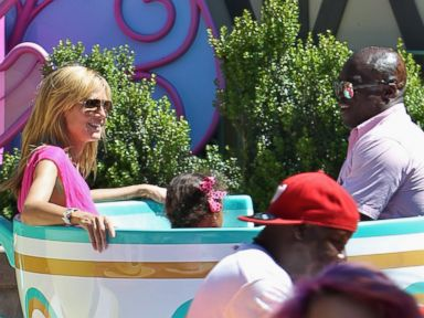 Heidi Klum and Seal Reunite for Family Trip to Disneyland