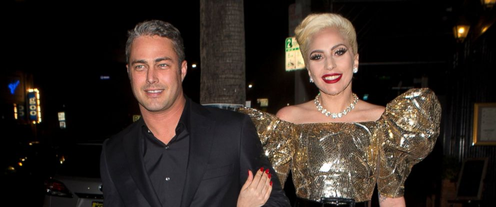 PHOTO: Taylor Kinney and Lady Gaga were seen walking two full blocks to No Name Restaurant to celebrate Gagas birthday party in Los Angeles.