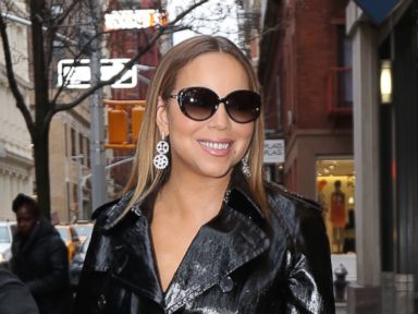 Mariah Carey Steps Out in Fishnets and a Trench