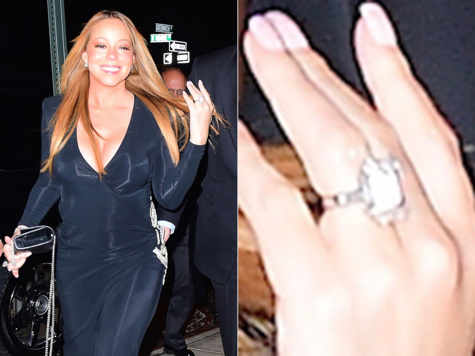 mariah carey sports some new bling on that finger picture hollywoods biggest engagement rings abc news - Mariah Carey Wedding Ring
