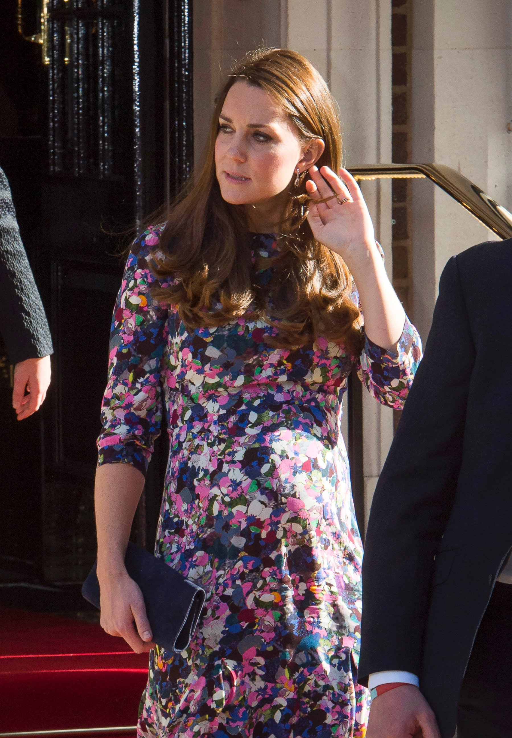 Duchess Kate Shows Off Her Growing Bump