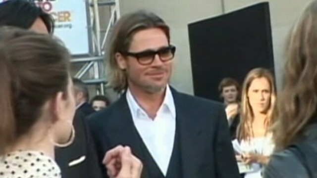 VIDEO: The actor gave uplifting advice to man during Moneyball screening.