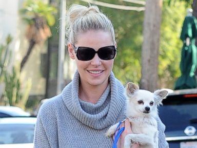 Katherine Heigl Gives Her Dog a Lift