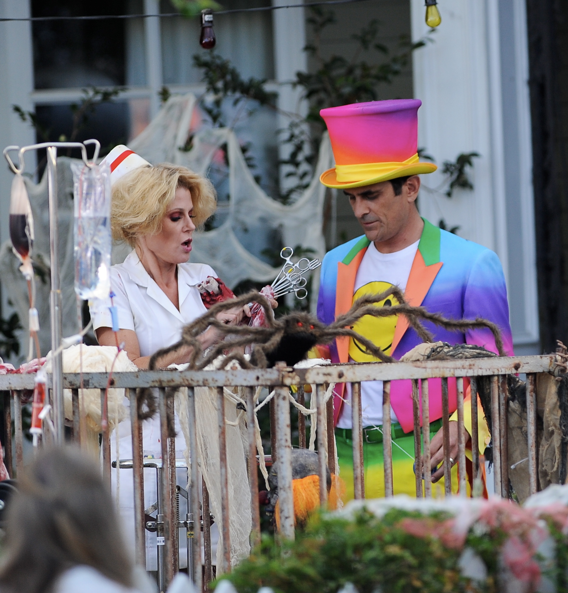 Go On Set of Modern Family For Its Halloween Episode
