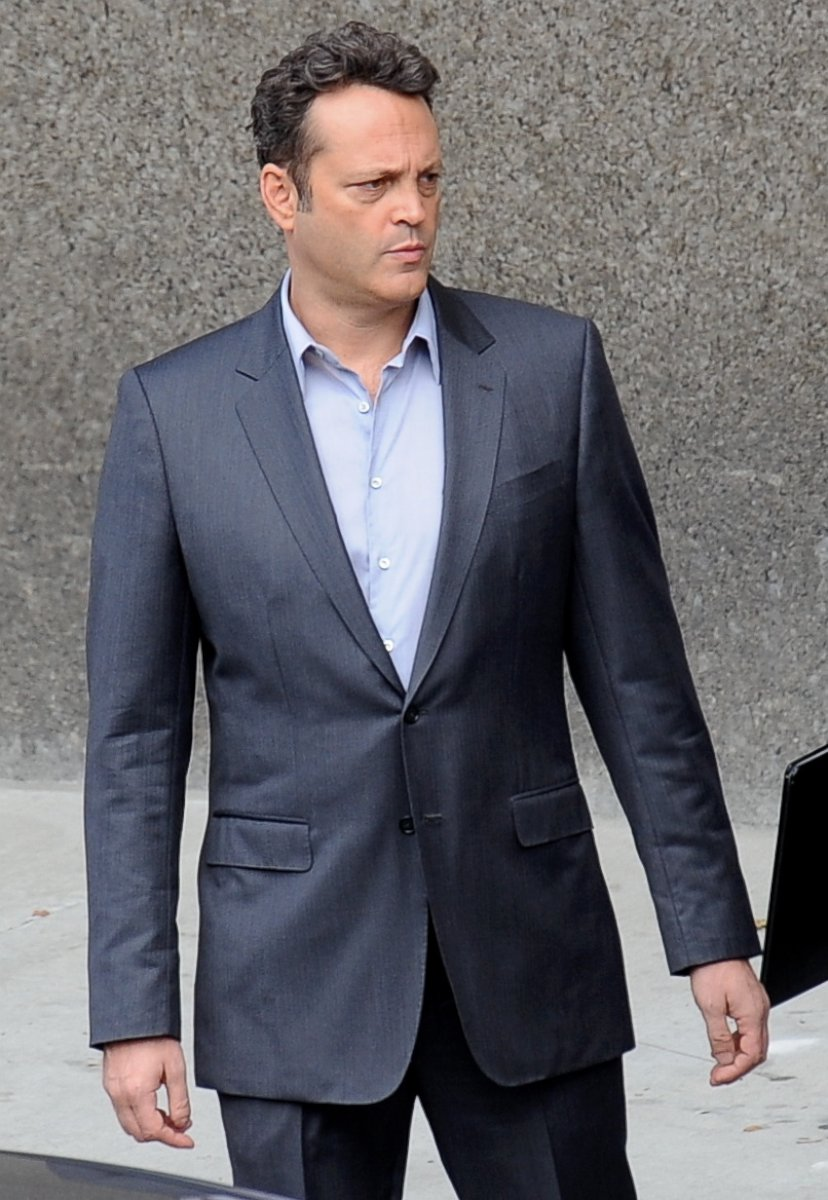 Vince Vaughn Looks Dapper on the Set of True Detective