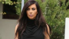 Kim Kardashian Rocks a Skintight Black Dress