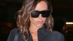Victoria Beckham Goes Monochromatic for a Flight