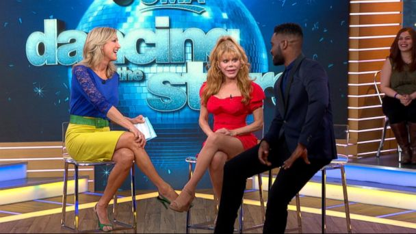 PHOTO: Charo (center) and Keo Motsepe (right) speak with GMA after