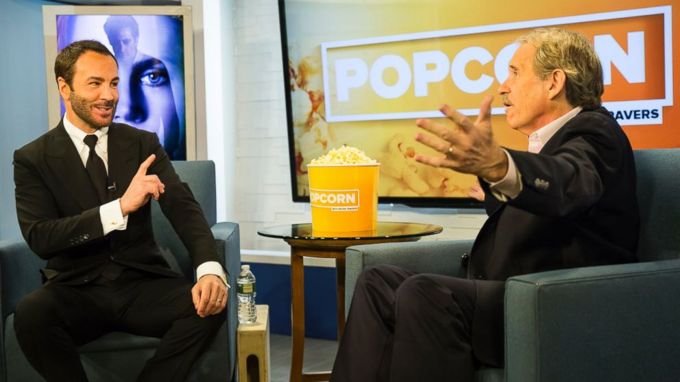 PHOTO: Tom Ford and Peter Travers at the ABC Studios in New York, Nov. 18, 2016.
