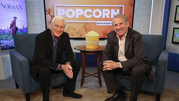 PHOTO: Richard Gere and Peter Travers at the ABC News studios in New York City, on
