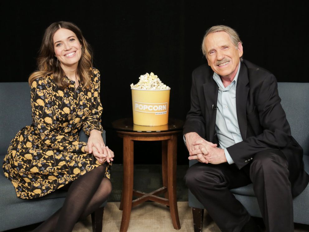 ABC News Popcorn with Peter Travers to talk about Disney Channels new animated series Tangled The Series and her role on the show This Is Us