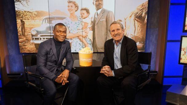 PHOTO: David Oyelowo and Peter Travers at the ABC Studios in New York, Feb. 6, 2017.