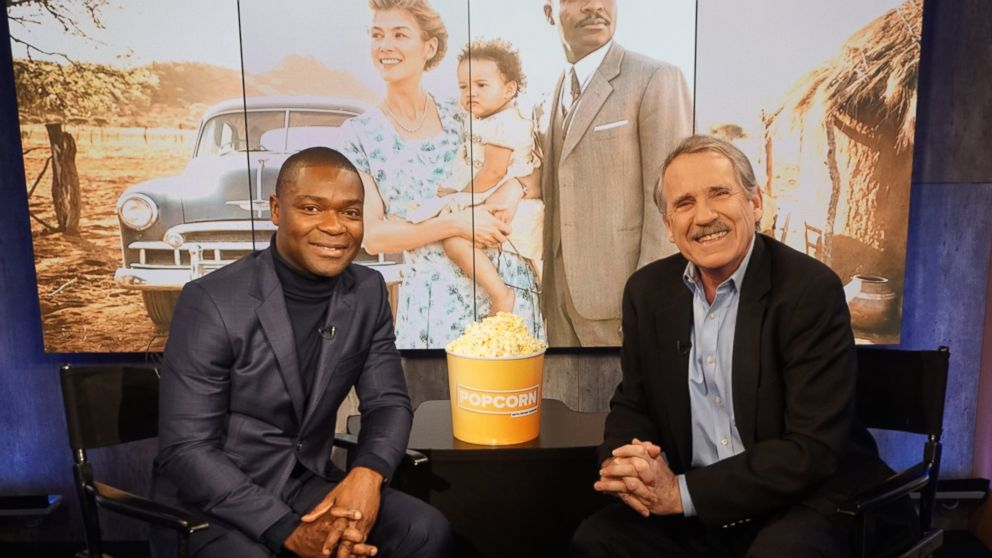 PHOTO: David Oyelowo and Peter Travers at the ABC Studios in New York, Feb. 6, 2017.