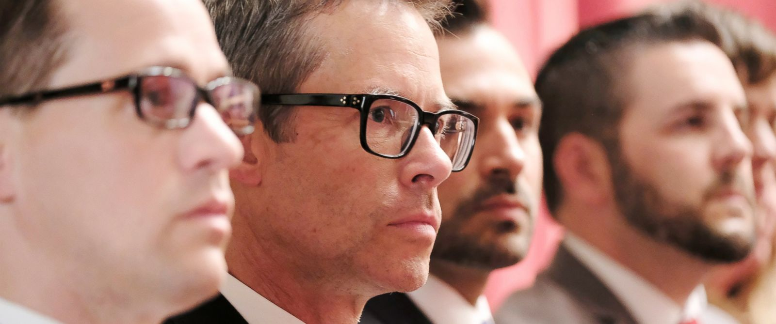 """PHOTO: ABCs mini-series """"When We Rise"""" chronicles the real-life struggles of LGBT men and women who helped pioneer one of the last legs of the U.S. Civil Rights movement. Pictured is actor Guy Pearce (center) who portrays Cleve Jones."""