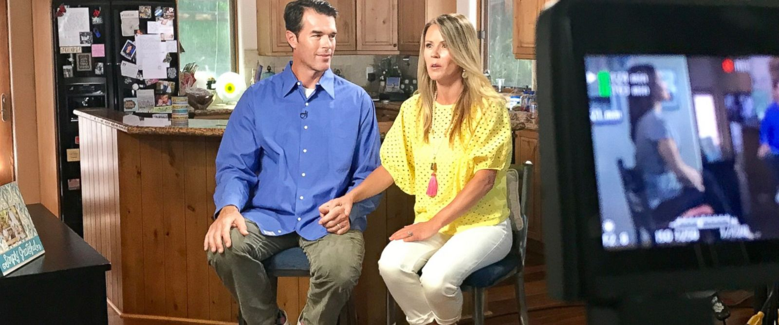 PHOTO: Trista Sutter sat beside her husband Ryan as they recounted what happened when she had a seizure on their family vacation.