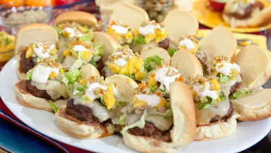 PHOTO: Rachael Ray's 7-layer sliders are shown here.