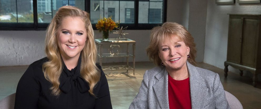 "Barbara Walters interviews Amy Schumer for her ""Barbara Walters Presents: The 10 Most Fascinating People of 2015"" ABC News special airing on Dec. 17 at 9:30 p.m. ET."