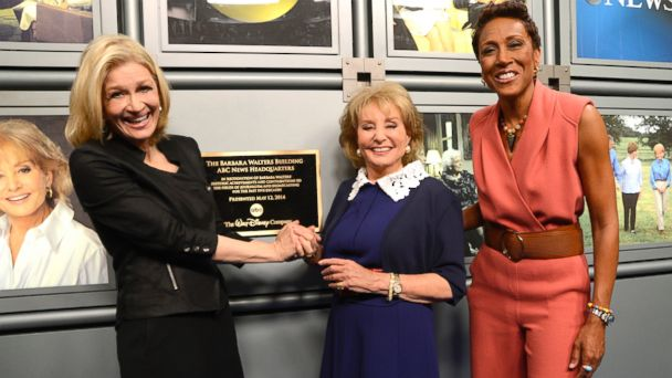 abc BWanchors le 140512 16x9 608 ABC News Headquarters Named for Barbara Walters