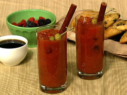 Clinton Kelly's bloody mary cocktail is shown here.