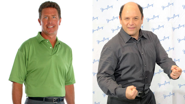PHOTO: Dan Marino poses for a photo after losing weight with Nutrisystem. Jenny Craig client Jason Alexander makes his 30-pound weight loss debut during a press conference at The Pierre Hotel on May 17, 2010 in New York City.