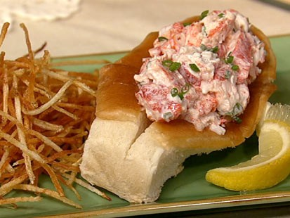 Clinton Kelly's lobster rolls are shown here.