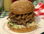 PHOTO: Michael Symons pork burger is shown here.