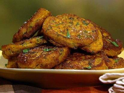 Mario Batali's pumpkin fritters are shown here.