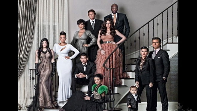 VIDEO: The Kardashians pose for an over-the-top holiday photo.