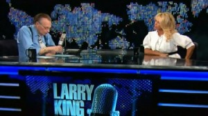 VIDEO: Jimmy Kimmel shows larry King being smitten with Pam Anderson.
