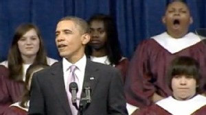 VIDEO: A student sleeps during the President Obamas speech at a Michigan high school.