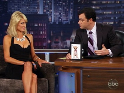 VIDEO: Jimmy Kimmel quizzes Paris Hilton.