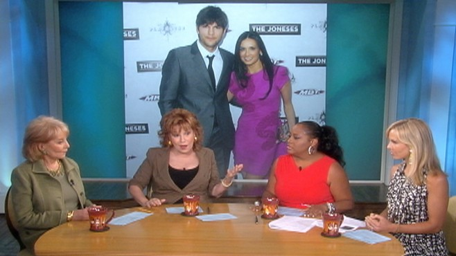VIDEO: The View discusses rumors that Ashton Kutcher is cheating on Demi Moore.