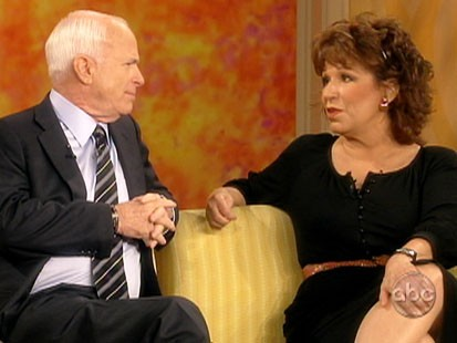 Picture of John McCain and Joy Behar.