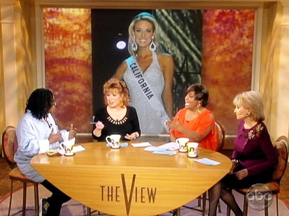 VIDEO: The View talks about Miss California Carrie Prejean.
