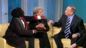VIDEO: Whoopi Goldberg and Joy Behar walk off The View set over Bill OReillys comments about Muslims.