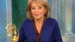 VIDEO: Barbara Walters receives an Emmy Award for lifetime achievement.