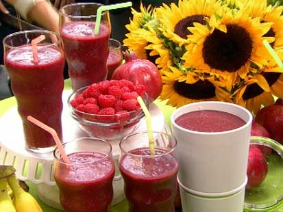 Gail Simmons' acai smoothies are shown here.