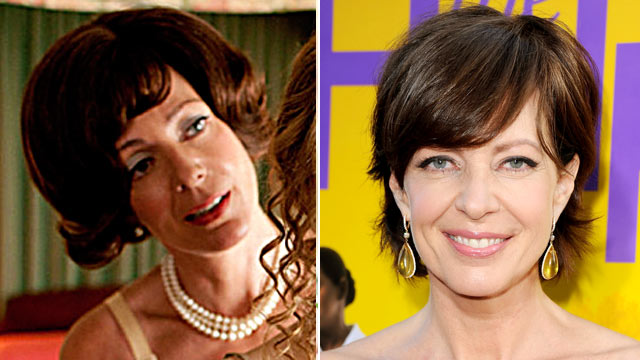 "PHOTO: Allison Janney is shown in a scene from the movie, ""The Help,"" left, and arriving at the film's Los Angeles Premiere held at the Academy of Motion Picture Arts and Sciences' Samuel Goldwyn Theater, Aug. 9, 2011 in Beverly Hills, Calif."