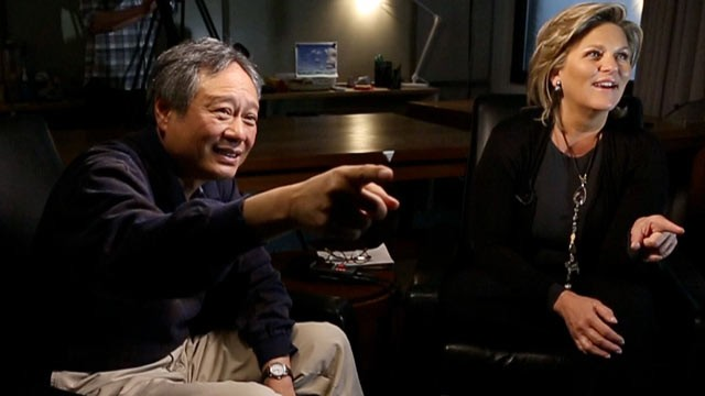 "PHOTO: During an interview for ABC News' ""Nightline,"" Director Ang Lee points to his favorite scene in ""Life of Pi,"" for which he has been nominated for the Best Director Oscar."