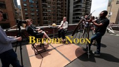 VIDEO: The stars of 'Before Midnight' discuss their beloved film trilogy on the roof of ABC in New York.