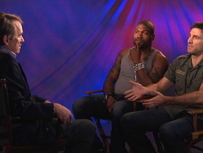 "VIDEO: Sharlto Copley and Rampage Jackson face off in their ""A-Team"" fandom."