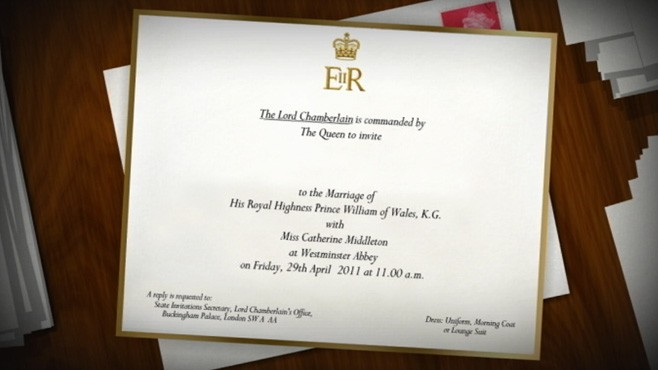 VIDEO: The details and design of Prince William and Kate Middleton's invite.