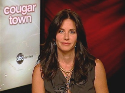 "VIDEO: Courtney Cox says she plays a heightened version of herself in ""Cougar Town."""