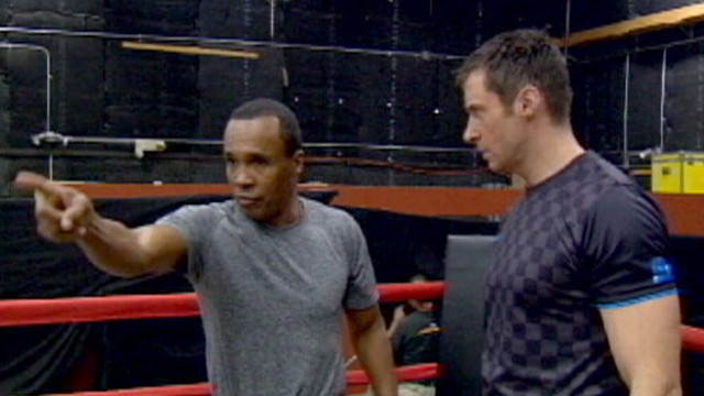 "VIDEO:  The boxing great ""took it easy"" on Hugh Jackman during training."
