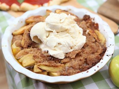 Emeril Lagasse's apple betty is shown here.