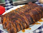 Apple City Barbecue's world champion ribs are shown here.