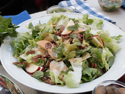 PHOTO: Michael Romanos apple and escarole salad is shown here.