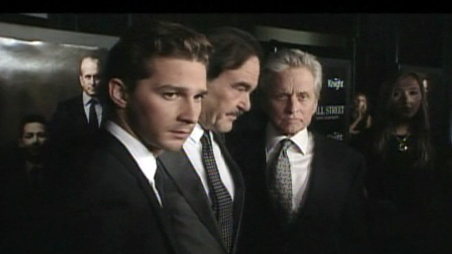 VIDEO: Shia LaBeouf praises Michael Douglas at the Wall Street 2 premiere.