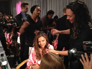 Backstage at the Victoria's Secret Show