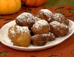 PHOTO: Carla Halls pumpkin beignets with caramel sauce are shown here.